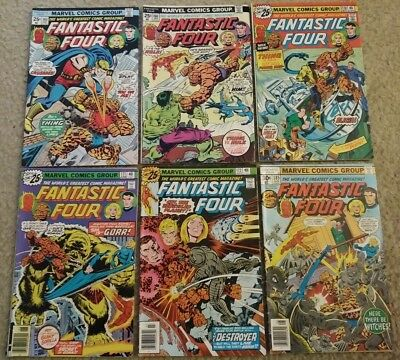 Lot of 6 Marvel Fantastic Four Comic Books #s 165 166 170 171 172 185 VG to VG+