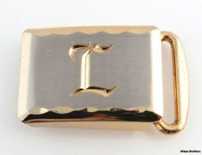 Initial L Belt Buckle - Vintage New Old Stock in Box Hickok Men's 2-toned Letter