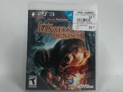 CABELA'S DANGEROUS HUNTS 2011 (GAME ONLY) Playstation 3 PS3 Complete CIB Sticker