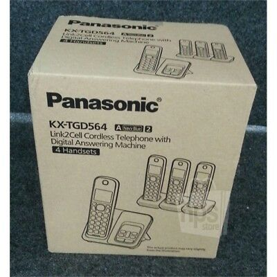 Panasonic KX-TGD564 Link2Cell Cordless Telephone With Digital Answering Machine