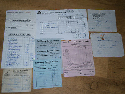 Vintage Receipts Ballymena Shops and traders, some no longer in business