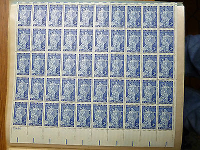 United States Scott 1082.the 3 cent Labor Day sheet of 50 stamps MINT
