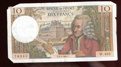 Money-France-Bank of France-Dix Francs