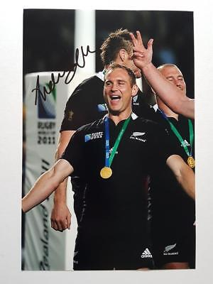 Andrew 'Andy' ELLIS New Zealand All Blacks signed Rugby 8x12 Photo AFTAL