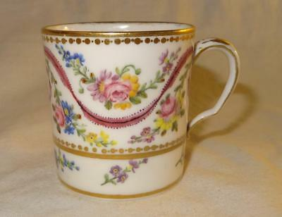 18th Century SEVRES French Porcelain Coffee Can / Gobelet Litron - Dated 1784