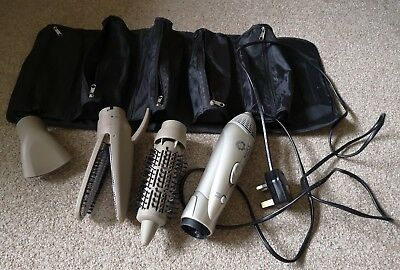 NICKY CLARKE- FRIZZ CONTROL HOT AIR STYLER with ATTACHMENTS- PRE-OWNED