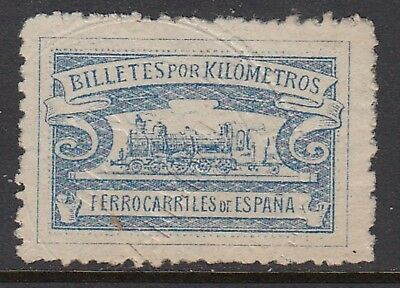 SPAIN, Railways tickets revenue stamp, embossed cancel