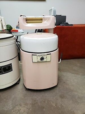 vintage large pink kenmore washer with rollers