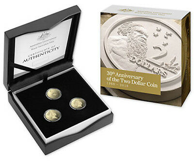 2018 $2 '30th Anniversary of the $2 Coin' Three Coin Proof Set