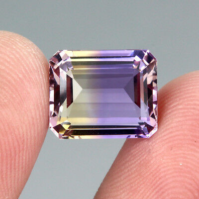8.35ct. 13x11mm Octagon Cut 100% Natural Top Bi Colors Purple Yellow Ametrine