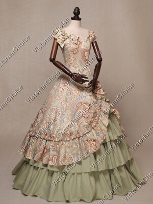 Victorian Southern Belle Old West Paisley Floral Gown Theater Costume N 208 XL