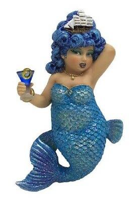 December Diamonds Rough Waters Blue Mermaid with Ship Christmas Ornament 5555058