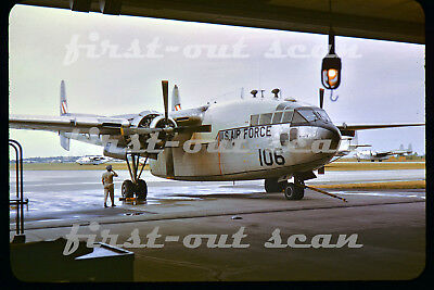 Original Slide - United States Air Force USAF C-119 Flying Box Car Airplane 1964