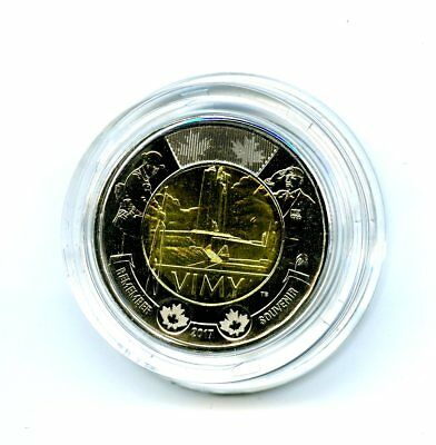 2017 Canada $2 Battle Of Vimy Ridge 100Th Anniversary Toonie In Plastic Capsule