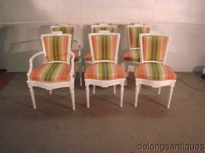 43905A: Set of 6 White Finished Dining Chairs