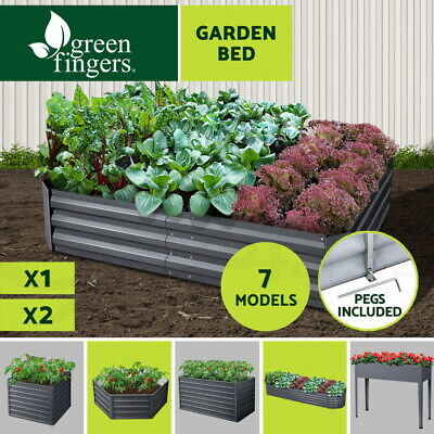 150X90CM Galvanised Steel Raised Garden Bed Instant Planter Square X1 X2