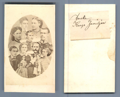 Christian IX Of Denmark And His Family CDV Vintage Albumen Carte De Visite Ch