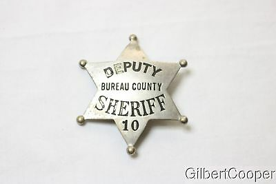 BUREAU COUNTY DEPUTY SHERIFF BADGE - 10 - PICTURED IN OLSON's BOOK