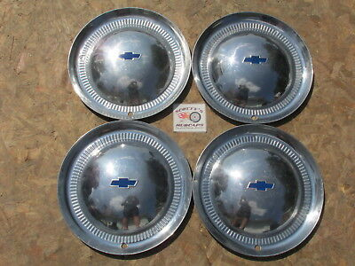 """1953 Chevy Bel Air, Two Ten 15"""" Wheel Covers, Hubcaps, Set Of 4"""
