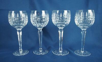 Set of 4 WATERFORD Crystal Ireland GLENMORE WINE HOCK GLASS GOBLETS