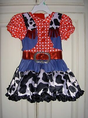Halloween Cowgirl Costume Girls 2T Western Vgc