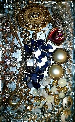 Huge Vintage & Now Jewelry Lot Estate Find Junk Drawer UNSEARCHED UNTESTED#best$