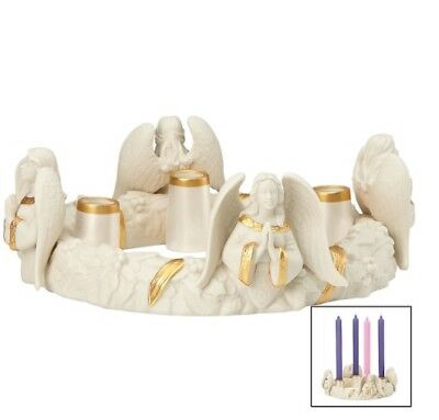 Lenox First Blessing Nativity Angels Advent Wreath NEW IN BOX