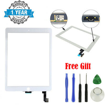 White Glass Touch Screen Digitizer Replacement for iPad Air 2nd Gen A1566 A1567