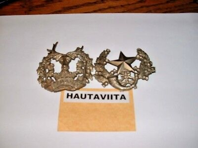 British Metal Hat Cap Badges Cameronians Scottish Rifles + Gordon Highlanders