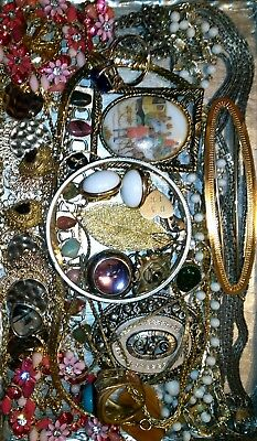 Huge Vintage & Now Jewelry Lot Estate Find Junk Drawer UNSEARCHED UNTESTED#ks&ms