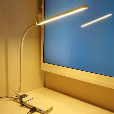6W USB Clip-On Desk Lamp LED Flexible Reading light Dimmable Clamp Lamp Exotic