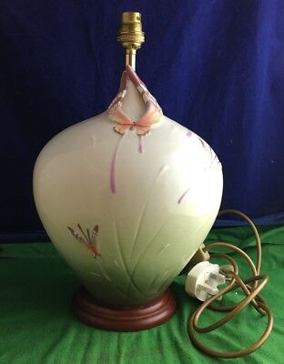 Lovely Very Rare Franz Porcelain ''Butterfly'' Table Lamp Model FZ00340 RD8893
