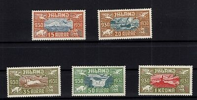 P79567 / Islande / Iceland / Air Mail / Scott # C 4 / C 8 Neufs * / Mint Mh 250