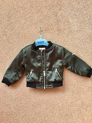 River Island Baby Girls Jacket Coat Age 3-6 Months VGC Trendy Lovely On