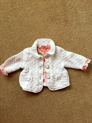 Ted Baker Baby Girls Jacket Cost Age 0-3 Months Orange Rose Lining Lovely On