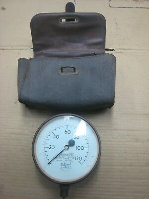 Pressure Gauge 0-120 lbf/In Calibrated 0-800 kN/m with Case
