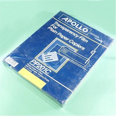 "NEW APOLLO PP201C 100 Sheets 8-1/2""x11"" Transparency Film for Plain Paper Copier"
