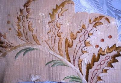 SUMMER CLEAROUT, 2 FRAGMENTS 18th CENTURY SILK EMBROIDERY c1750, REF, 115.
