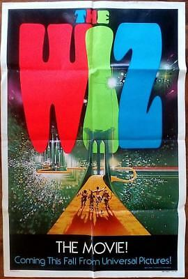 Michael Jackson Diana Ross Orig The Wiz Wizard Of Oz Universal Pictures 1 Sheet