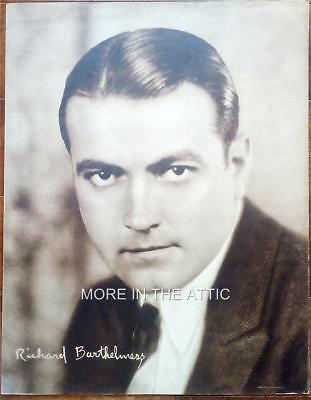 Precode Star Richard Barthelmess Orig Vintage Oversized 11X14 Portrait Premium