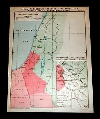EGYPTIAN EXPEDITIONARY FORCE AREA OCCUPIED by OPERATIONS Oct - Dec 1917 Plate 31