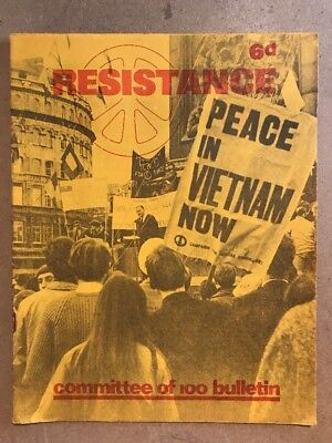 RESISTANCE - Committee Of 100 Bulletin - Anarchist BERTRAND RUSSELL 1965 Rare