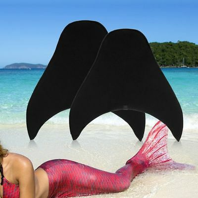Kids Adults Mermaid Tails Girl Swimmable Monofin Swimming Mono Fin Flippers