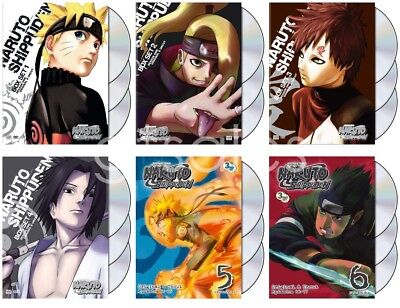NARUTO SHIPPUDEN ANIME Series Complete 1 - 6 Episodes 1-77 UNCUT NEW DVD  SETS