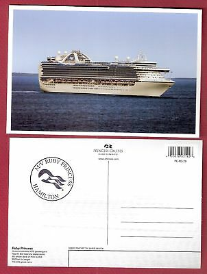 ms RUBY PRINCESS...pc white boarder W/ ships official stamp