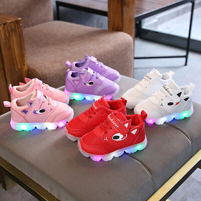 Toddler Kid Baby Boy Gir Led Light Shoes Boys Soft Luminous Outdoor Sport Shoes