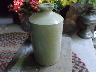 Large Antique 19th Century Stoneware Pottery Ink Bottle With Maker's Mark
