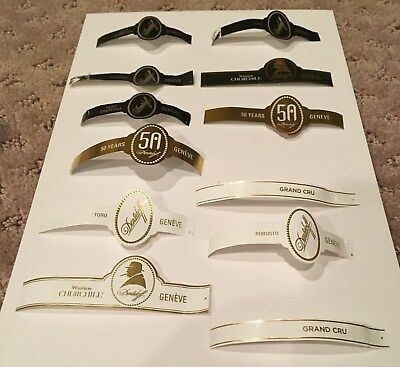 8 Davidoff Bands 2 sub bands 1 50th Gold Ann. Label!, No Tobacco in this lot JW5
