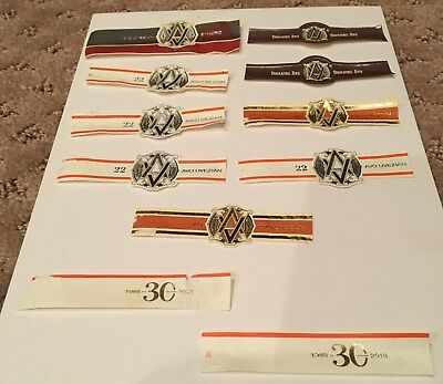 10 Avo Cigar Bands,+ 2 30 Year sub bands No Tobacco in this lot JW8