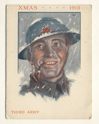 Great War Christmas Card: Third Army 1918